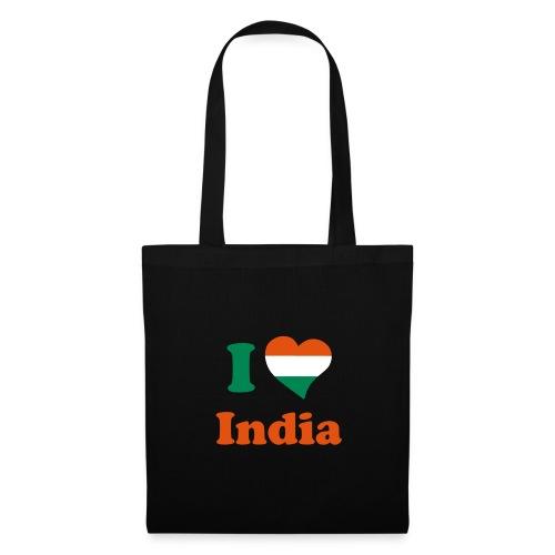Tasche I love India - Stoffbeutel