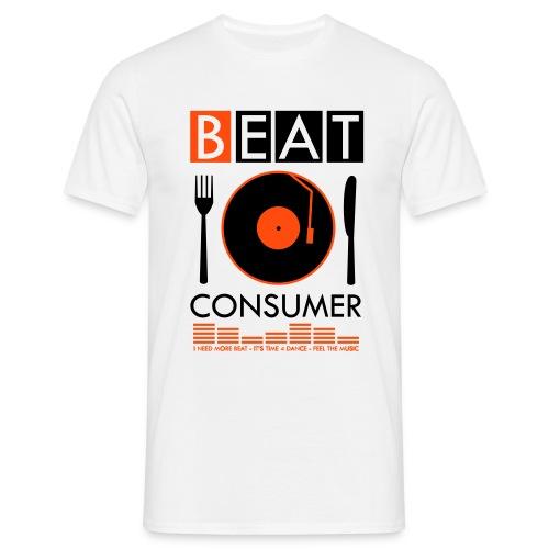 BEAT CONSUMER (white/orange) - Männer T-Shirt