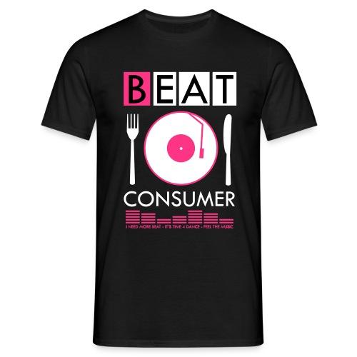 BEAT CONSUMER (black/pink) - Männer T-Shirt