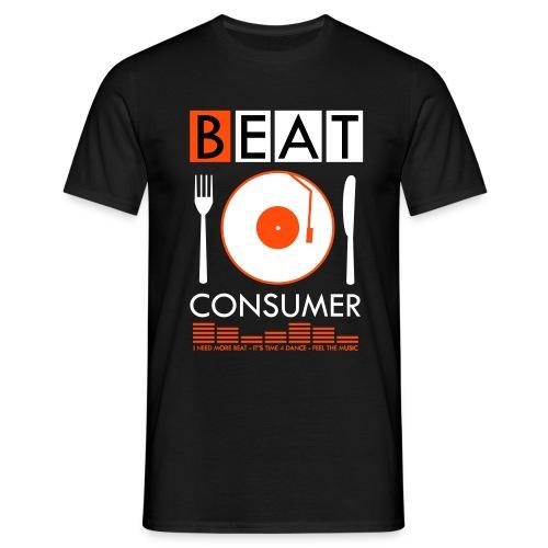 BEAT CONSUMER (black/orange) - Männer T-Shirt