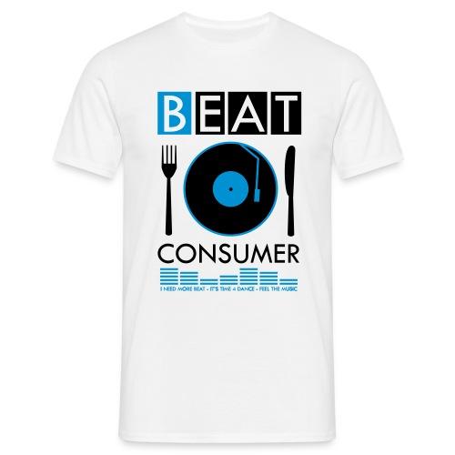 BEAT CONSUMER (white/blue) - Männer T-Shirt