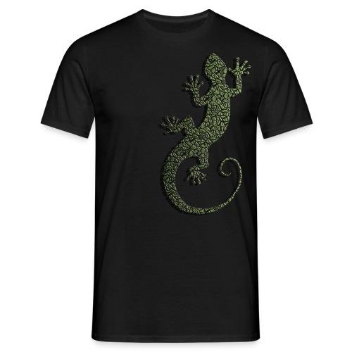 Männer T-Shirt - t-shirt,shirt,schwarz,salamander,reptil,männer,molch,men,man,klassisch,herren,gecko,eidechse,echse,classic,black,amphibie