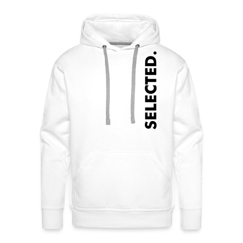 Selected.  White and Black  - Männer Premium Hoodie