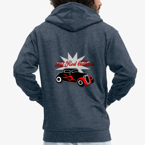 Hot rod Tee  - Men's Premium Hooded Jacket
