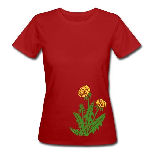 t-shirt löwenzahn dandy lion pusteblume butterblume natur blume - Frauen Bio-T-Shirt
