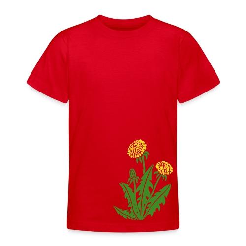 t-shirt löwenzahn dandy lion pusteblume butterblume natur blume - Teenager T-Shirt