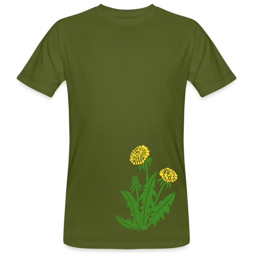 t-shirt löwenzahn dandy lion pusteblume butterblume natur blume - Männer Bio-T-Shirt