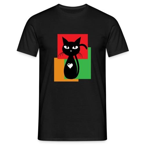 Black cat Herren - Männer T-Shirt