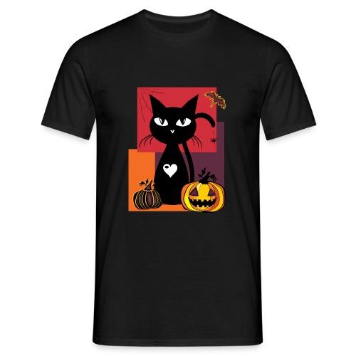 Halloween cat Herren - Männer T-Shirt