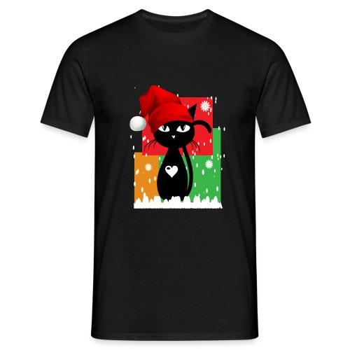 Christmas cat Herren - Männer T-Shirt