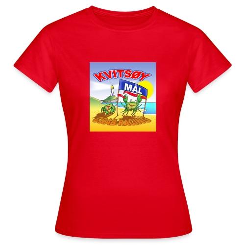 Kvitsøy Crab Racing dame - T-skjorte for kvinner