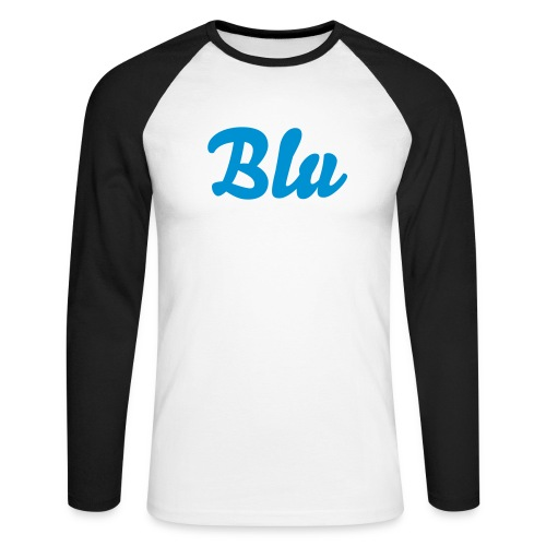 Blu - Men's Long Sleeve Baseball T-Shirt