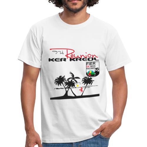 Tee shirt classique Homme 974 Ker Kreol Réunion 2013 pays - T-shirt Homme