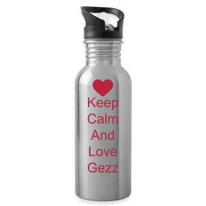 water bottle keep calm and love gezz - Water Bottle
