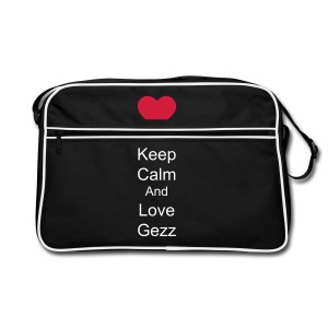 Retro 70's bag keep calm and love gezz - Retro Bag