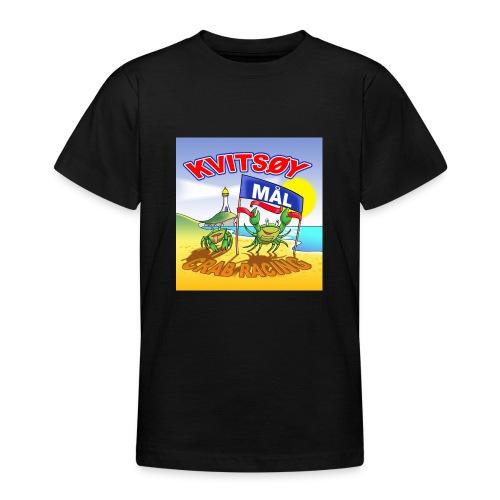 Kvitsøy Crab Racing - tenårings t-skjorte - T-skjorte for tenåringer