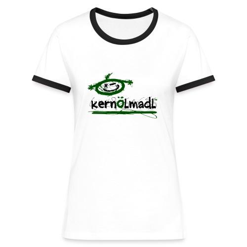 KÖmadl - TWIN - Frauen Kontrast-T-Shirt