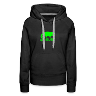 Hoodies & Sweatshirts ~ Women's Premium Hoodie ~ Women's Hoodie Green Logo