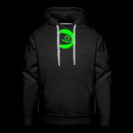 Hoodies & Sweatshirts ~ Men's Premium Hoodie ~ Men's Hoodie Green Badge