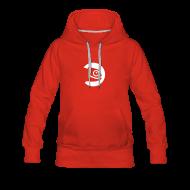 Hoodies & Sweatshirts ~ Women's Premium Hoodie ~ Women's Hoodie White Badge