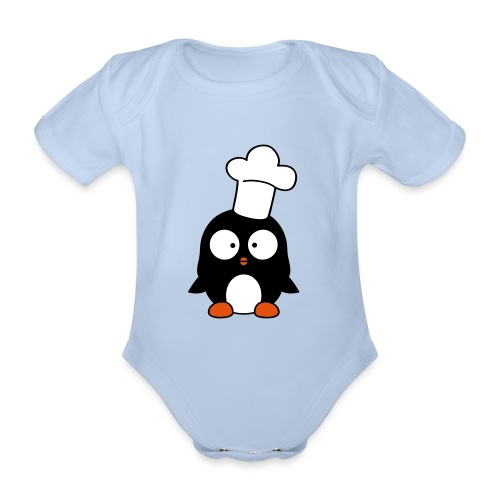 Pingviini - Vauvan lyhythihainen luomu-body