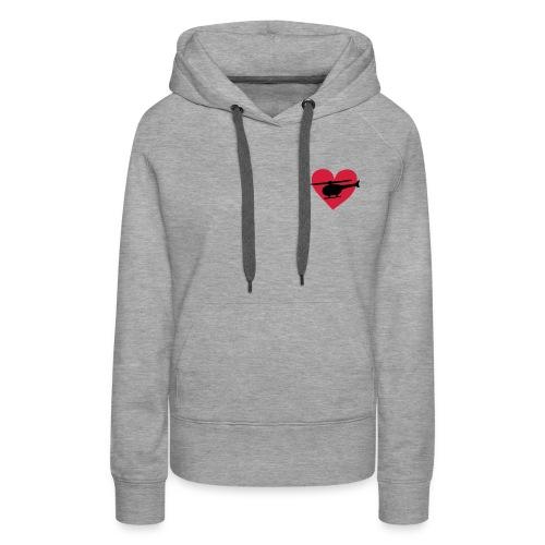 Heli-Herz - Frauen Premium Hoodie