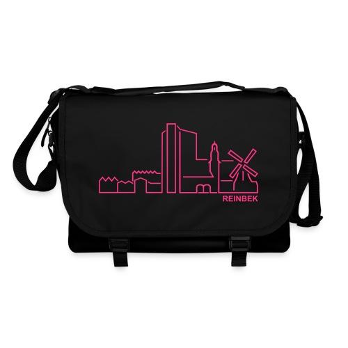 Schultasche mit der Skyline von Reinbek. - Umhängetasche