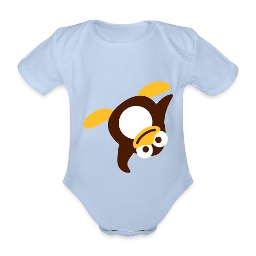Little Penguin - Vauvan lyhythihainen luomu-body