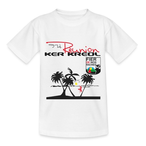 Tee shirt Enfant 974 Ker Kreol Réunion 2013 pays - T-shirt Enfant