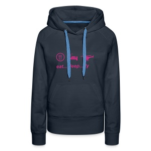 eat sleep fly - Frauen Premium Hoodie