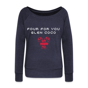 Four For You, Glen Coco - Women's Boat Neck Long Sleeve Top