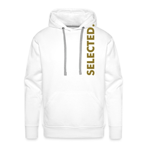 Selected. Gold and White  - Männer Premium Hoodie