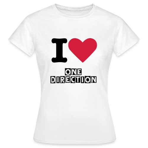 I love one direction T shirt - Women's T-Shirt