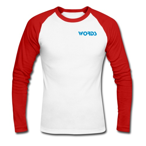 Words - Men's Long Sleeve Baseball T-Shirt