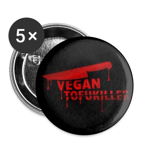 BUTTON 'VEGAN TOFUKILLER' - Buttons klein 25 mm (5er Pack)