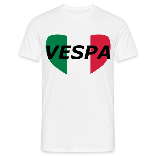 Men's heart VESPA t... - Men's T-Shirt