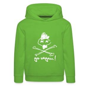 Kids Hoodie 'VEGAN TOFU-MERGE V2' - Kinder Premium Hoodie