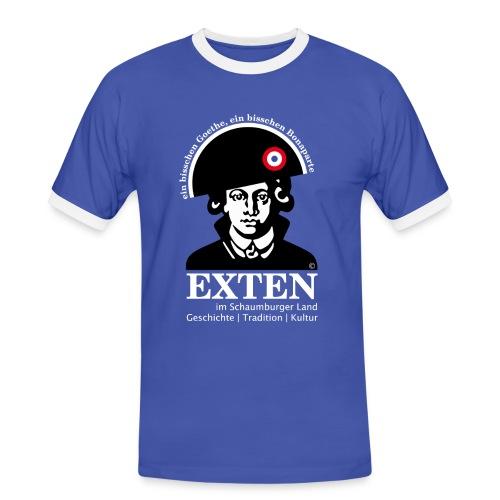 *SONDEREDITION* Exten Shirt-Goethe Man contras front - Männer Kontrast-T-Shirt