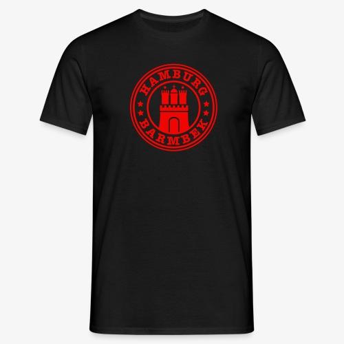 HAMBURG Barmbek - Hamburger Wappen Fan-Design HH Männer Shirt - Männer T-Shirt