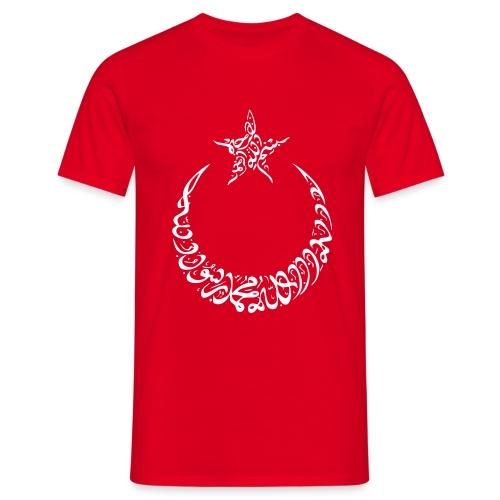 Ay Yildiz Arabic Font Style - Männer T-Shirt