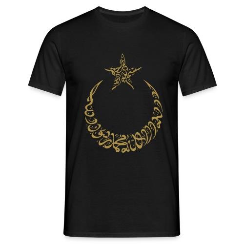 Ay Yildiz Arabic Font Style Gold Glitzer - Männer T-Shirt