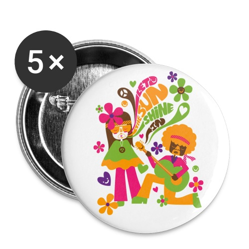 Let the sunshine in - Badge 56mm - Lot de 5 grands badges (56 mm)