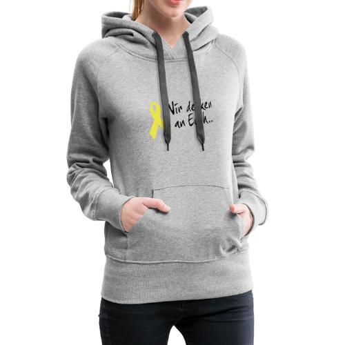 Kapuzenpullover Gelbe Schleife - Frauen Premium Hoodie