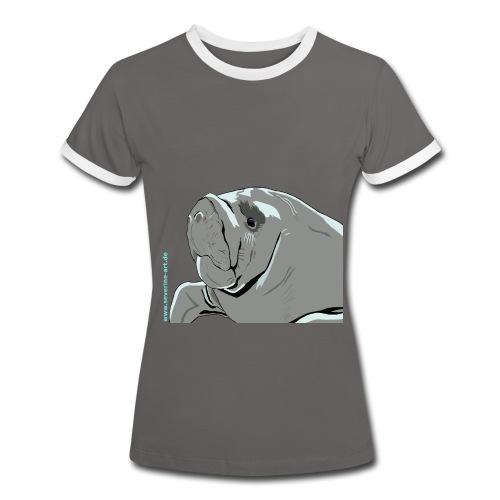 Seekuh - Frauen Kontrast-T-Shirt