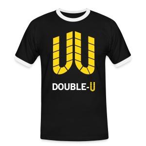 Double-U - Männer Kontrast-T-Shirt