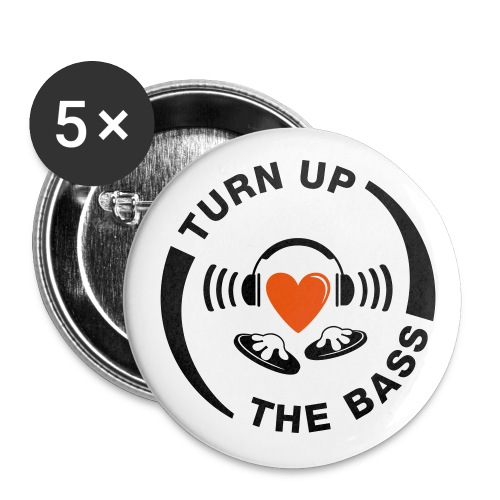Turn up the Bass pin badge - Buttons small 25 mm