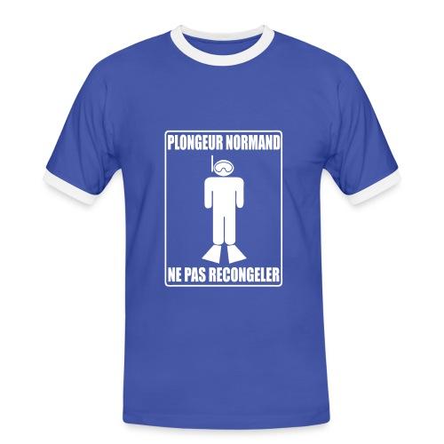 Plongeur Normand - Imp.Flex+Logo Dos - T-shirt contrasté Homme