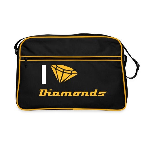 I love Diamonds tas - Retro-tas