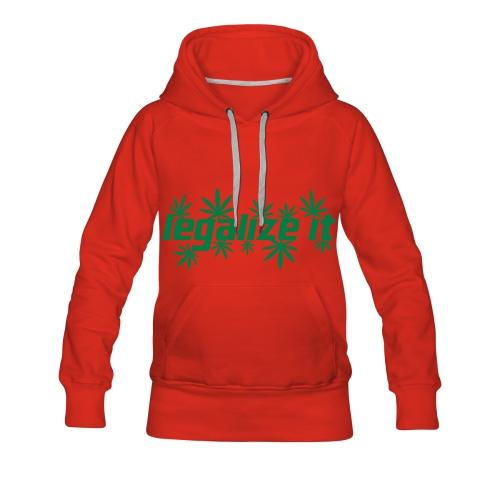 Sweat-shirt à capuche Premium pour femmes - Cannabis,Drogue,Marijuana,Pull