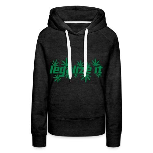 Sweat-shirt à capuche Premium pour femmes - Pull,Marijuana,Drogue,Cannabis